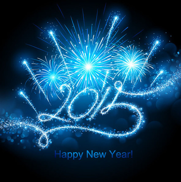 shiny firework effect15 new year background vector