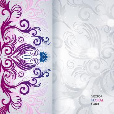 Floral Invitation Background Designs Pink Free Vector Download