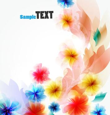 shiny flower background vector