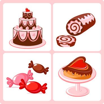 shiny food vector icons