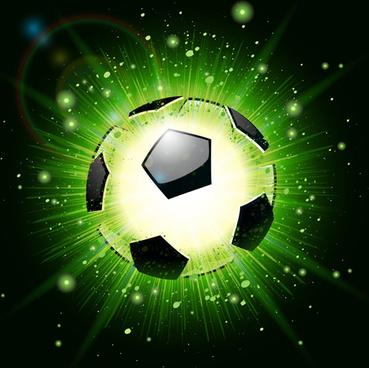 shiny football background vector