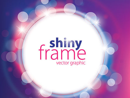 shiny frame vector graphic