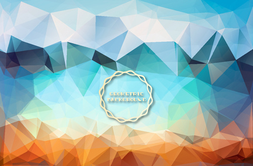 shiny geometric shapes embossment background vector