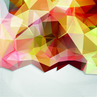 shiny geometry concept vector background