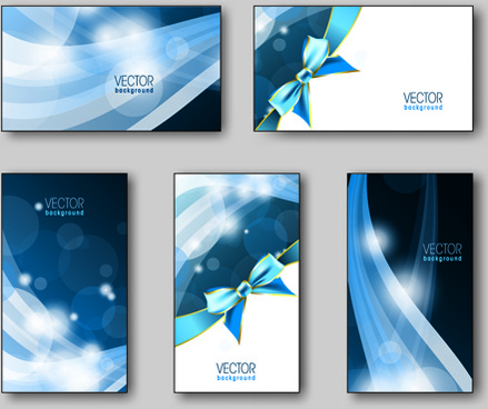shiny gifts cards creative vector set