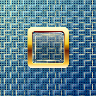 shiny golden square on op art background
