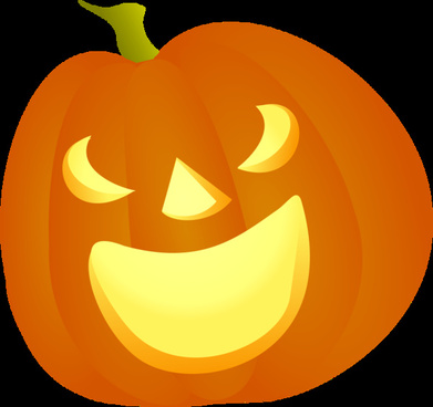 shiny halloween pumpkins vector illustration