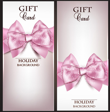 shiny holiday gift cards vector