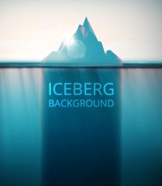 shiny iceberg background vector graphic