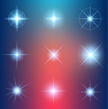 shiny light effect stars vector