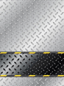 shiny metal background creative vector set