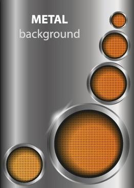 shiny metal background design vector