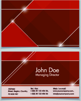 shiny modern business cards vector