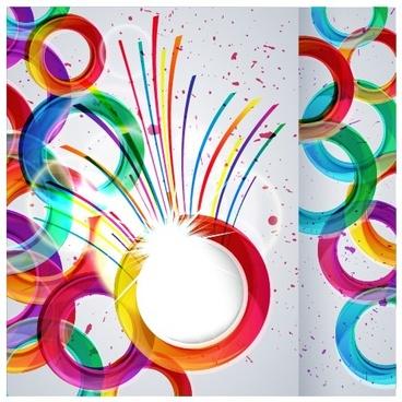shiny multicolor background vector