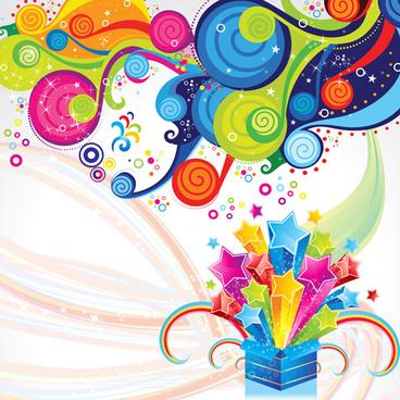 shiny multicolor backgrounds art