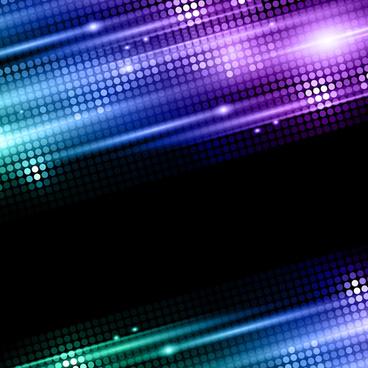 shiny neon disco party background vector