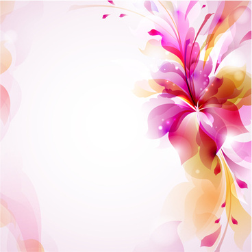 shiny ornate floral background vector