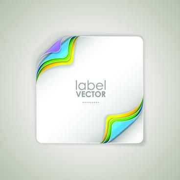shiny paper labels vector set