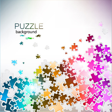 shiny puzzle background vector