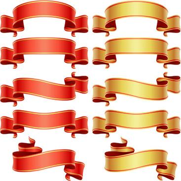 shiny ribbons design elements