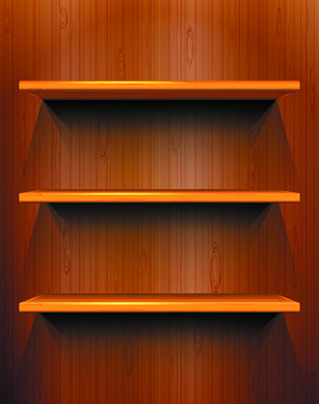 shiny shelves creative background vector art