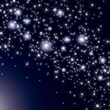 shiny sky with stars design vector background