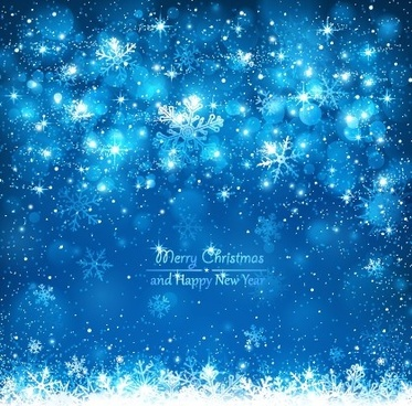 shiny snowflake new year background vector