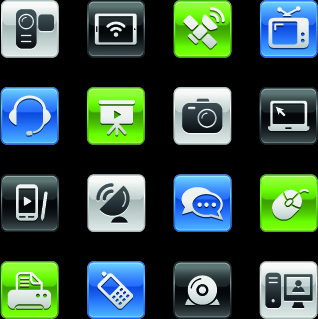 shiny social icons vector graphics