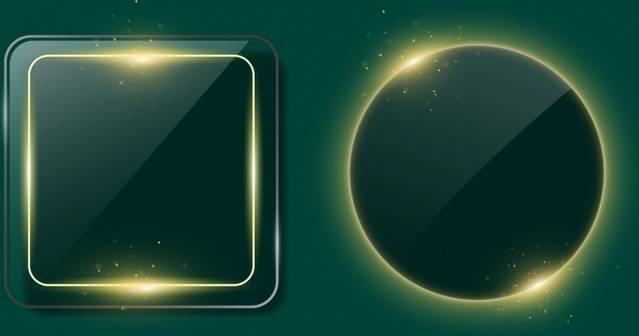 shiny sparkling frames sets geometric style design