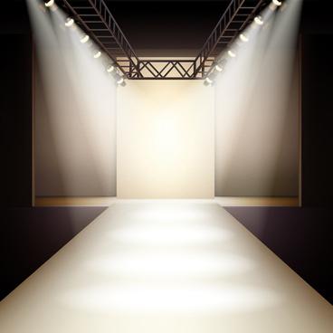 shiny spotlights effect vector