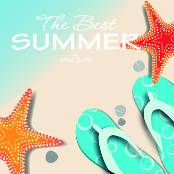 shiny summer art background vector