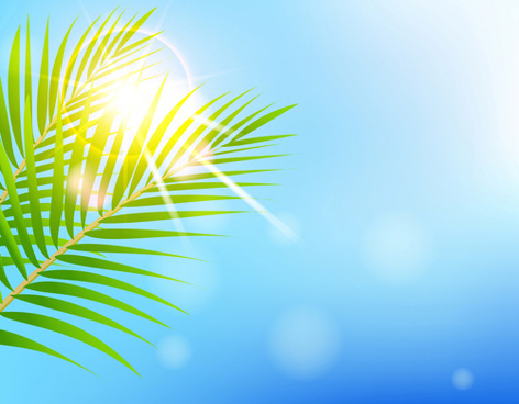 Summer background vector illustration free vector download 47286 shiny summer background vector voltagebd Images