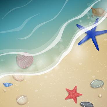 shiny summer background vector