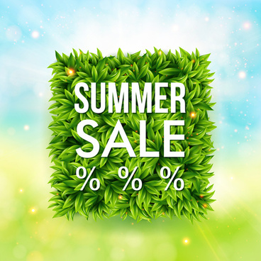 shiny summer sale background vector