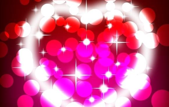 Shiny valentine's day vector