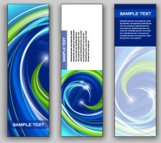 shiny vertical banner vector
