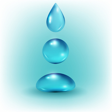 Shiny water drop vector background