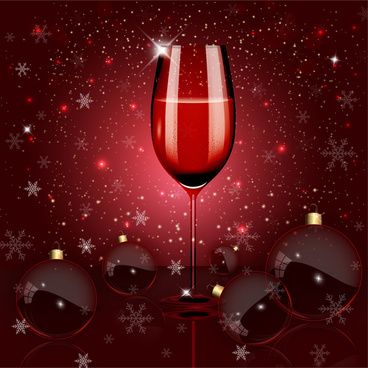 shiny wine glass on sparkle bokeh background