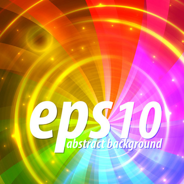 shiny with rainbow background vector graphic