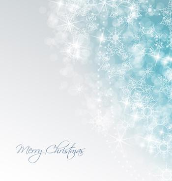 shiny xmas winter snowflake background vector