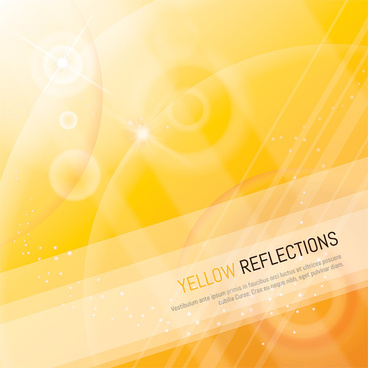 shiny yellow background art vector