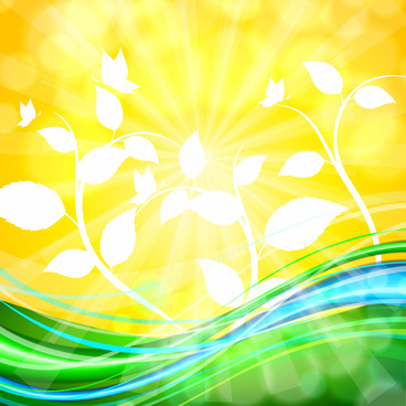 shiny yellow background vector graphics