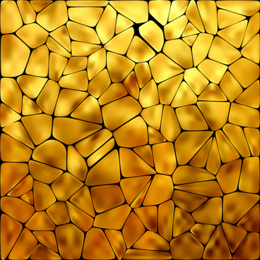 shiny yellow mosaics background vector