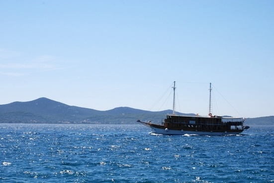ship at adriatic sea