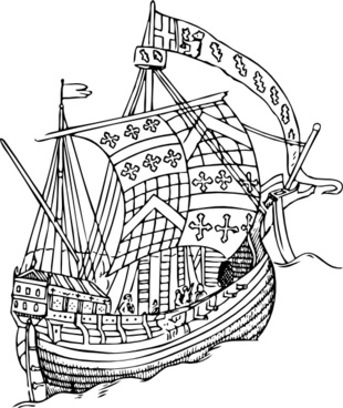 Ship From The Mid Th Century clip art