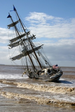 ship grounded california