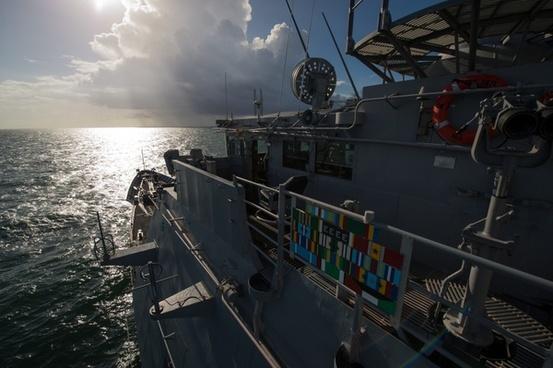 ship morning sunrise