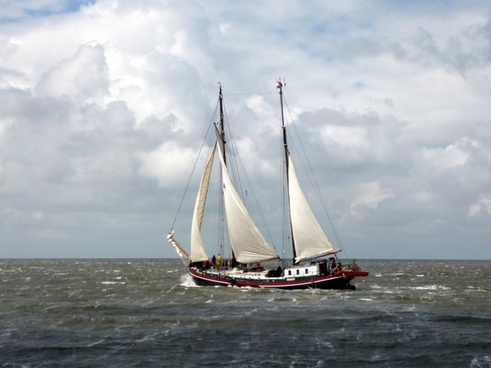 ship sail sea