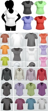 shirts and tshirts of various styles vector