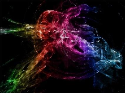 shiy neon light art background vectors